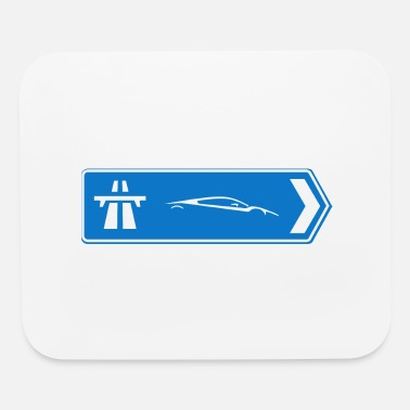 Sportscar Sportscars Roadsign - Mouse Pad