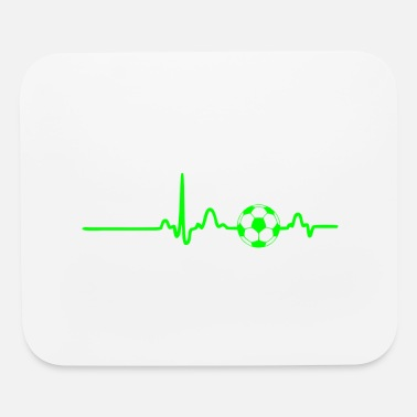 Pulse Green EKG HEARTBEAT SOCCER green - Mouse Pad
