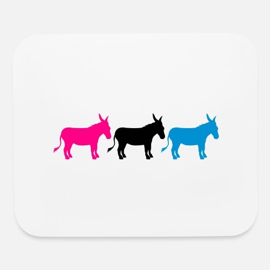 Party Monster Mouse Pads - 3 friends small baby cute cute sitting donkey hors - Mouse Pad white