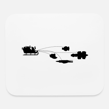 Funny Christmas sled - Mouse Pad