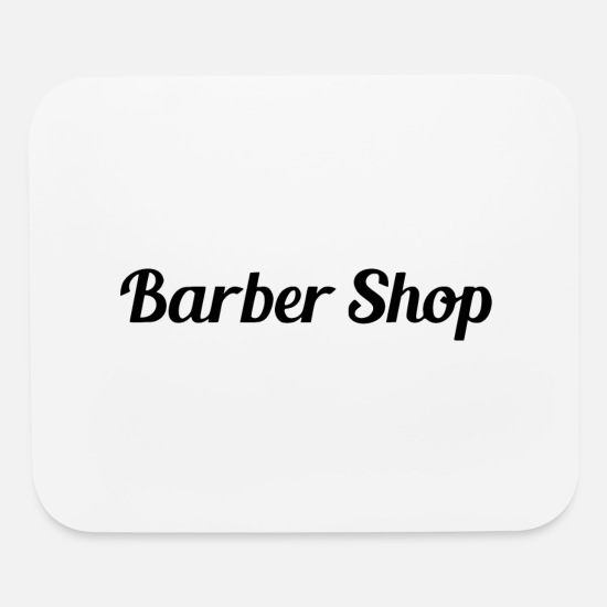 Rocker Mouse Pads - barber - Mouse Pad white