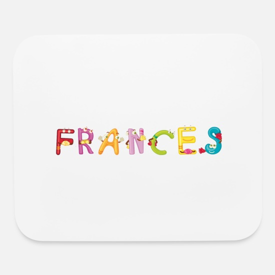 Frances Present Mouse Pads - Frances - Mouse Pad white