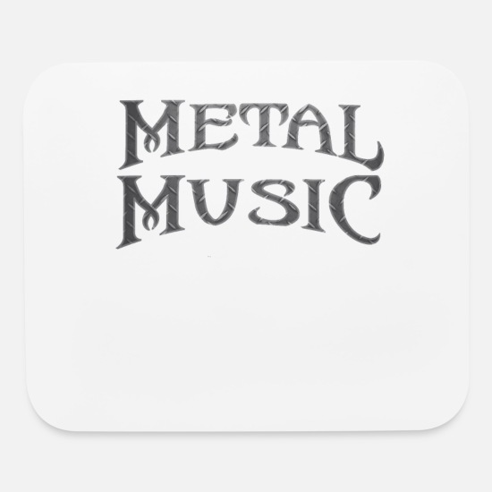 Guitar Mouse Pads - Metal music concert Guitar Head bang - Mouse Pad white