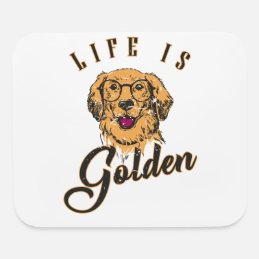 Golden Retriever Dog Lover Gift - Tshirt - Mouse Pad