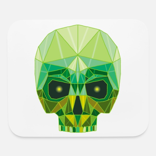 Jewelry Mouse Pads - Emerald Skull - Mouse Pad white