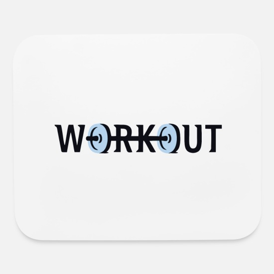 Dumbbells Mouse Pads - Funny Dumbbells - Mouse Pad white
