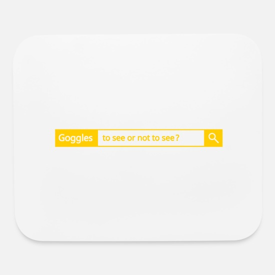 Comic Mouse Pads - Different search engine - Goggles - Mouse Pad white