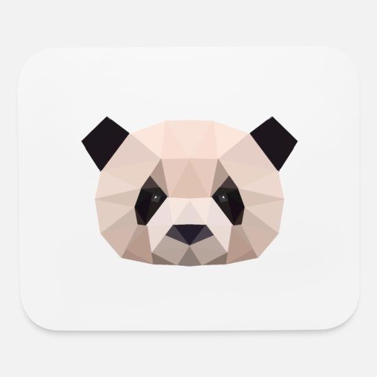 Panda, Panda bear polygon geometric Mouse pad Horizontal - white