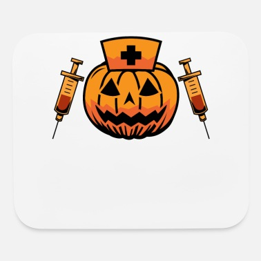 Witching Hour Nurse Pumpkin Funny Halloween - Mouse Pad