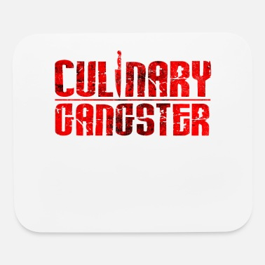 Cuisine Culinary Gangster | Cool Chef Typography Cooking - Mouse Pad