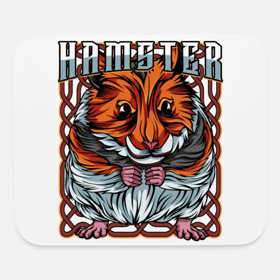 Forest Animal Mouse Pads - Cute Hamster Gnawer Rodent Cool Pet Lover Gift - Mouse Pad white