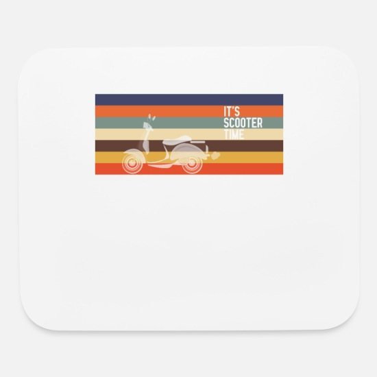 Skateboard Mouse Pads - Escooter Scooter Gang Scooter retro - Mouse Pad white