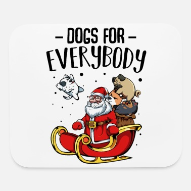 Wuff Cute Dogs Santa Claus Wuff Gift - Mouse Pad