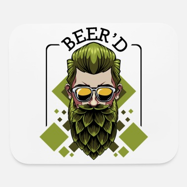 Beer Beer'd beer brewing beard wordplay brewer gift - Mouse Pad
