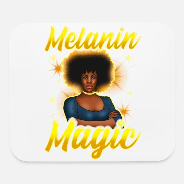 Afro Melanin Magic Black Queen Afro Diva - Mouse Pad