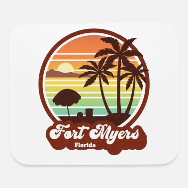 Classic Vintage Fort Myers Florida FL Retro 60s 70s - Mouse Pad