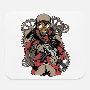 Steam Steampunk man Maschine rot - Mouse Pad