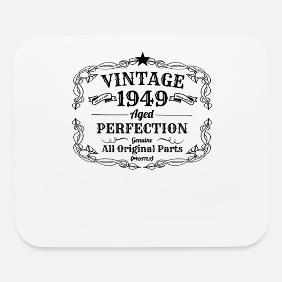 Vintage 1949 I 70th Birthday Grandpa Gift Mouse Pad