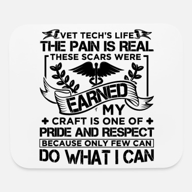 Life Vet Tech Veterinary Technician Job Title - Mouse Pad