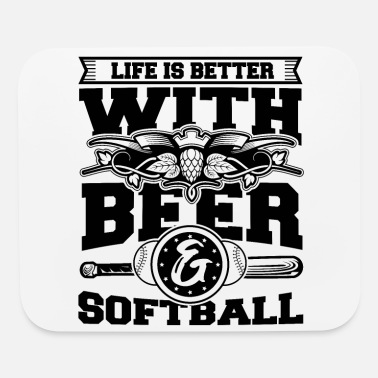 Meme Softball Player Coach Fan Funny Quotes - Mouse Pad