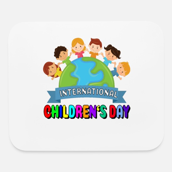Kindergarten Mouse Pads - International Childrens Day - Mouse Pad white