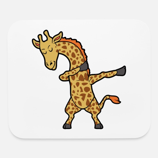 6ee79782 Dance Mouse Pads - Dabbing Dab Giraffe - Mouse Pad white