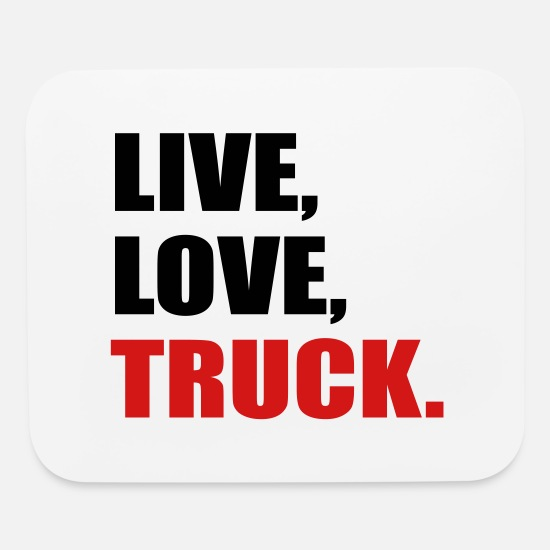 Truck Driver Mouse Pads - truck - Mouse Pad white