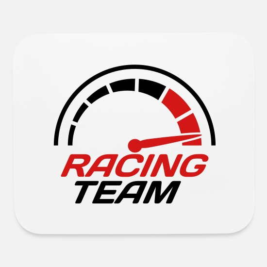 Racing Mouse Pads - Racing team speedometer quick lawn - Mouse Pad white