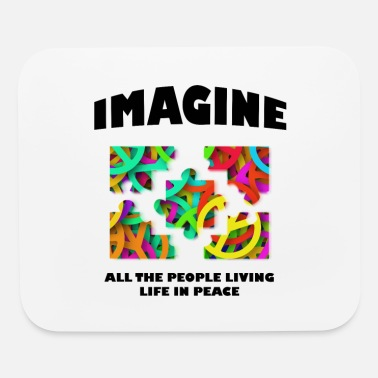 Hippie Life Imagine People Living Life In Peace Hippie - Mouse Pad