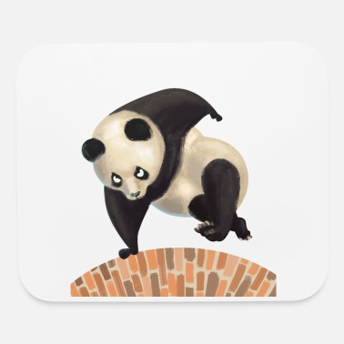 Parkour Big Panda Bear Traceur Free Running Gift - Mouse Pad