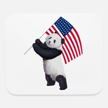 Big Panda Bear Independence Day 4th of July Gift - Mouse Pad