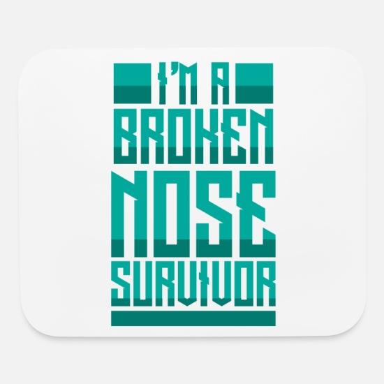 Transplant Mouse Pads - Broken Nose Survivor Injury Get Well Soon - Mouse Pad white