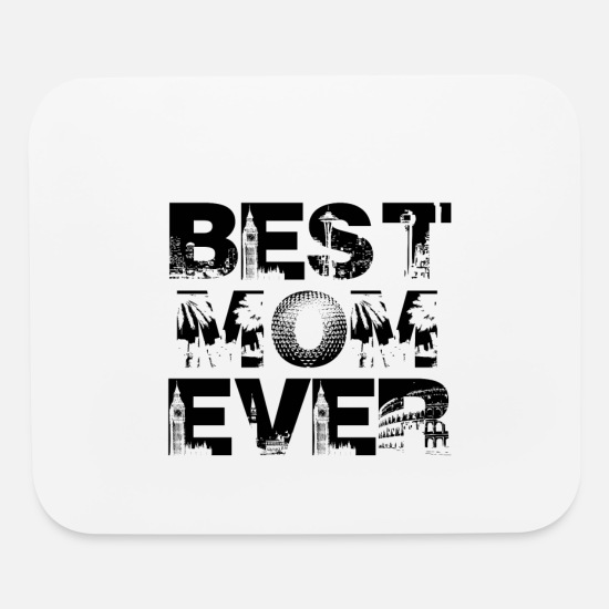 Unbelievables Mouse Pads - BEST MOM EVER MUTTI MAMA MOMMY GIFT IDEA - Mouse Pad white