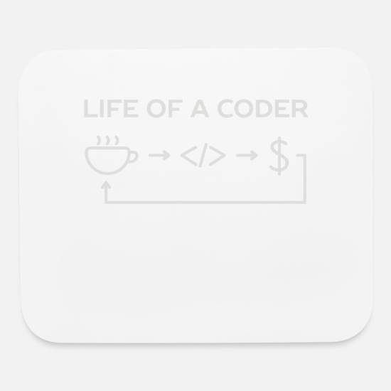 Movie Mouse Pads - Web and software developer coder humor - Mouse Pad white