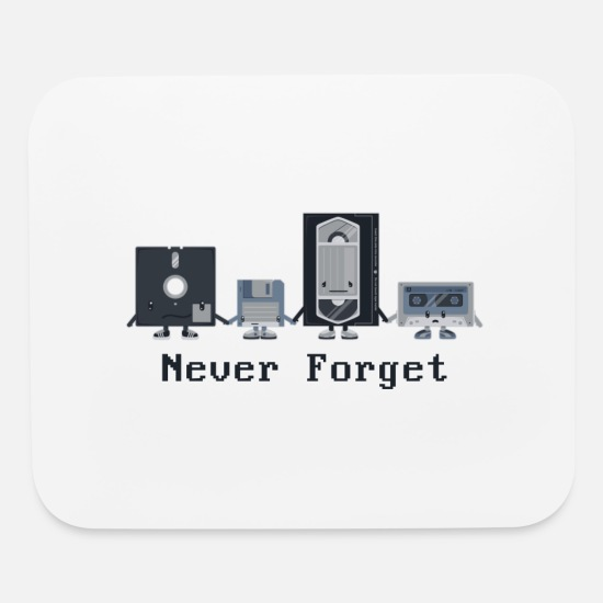 Never Mouse Pads - Never forget the classics - Mouse Pad white