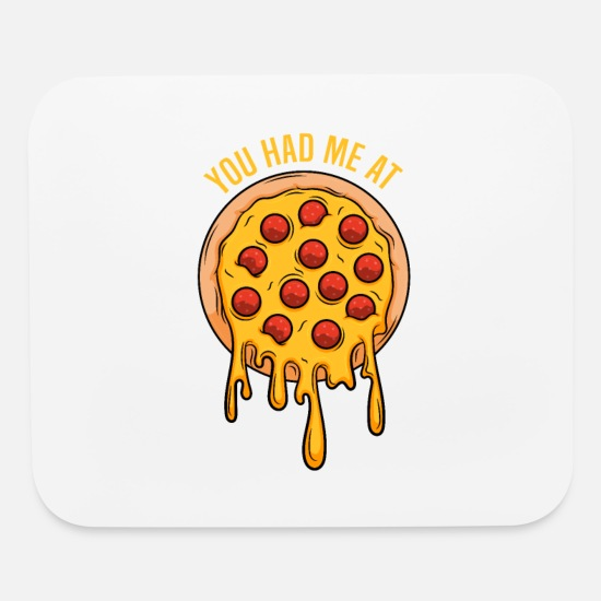 Pizza Mouse Pads - Pizza - Mouse Pad white