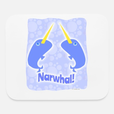 Double Blues Double Narwhal Duel - Mouse Pad