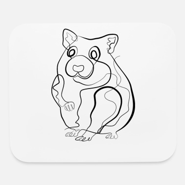 Little Mouse Mouse Little mouse- one line drawing - Mouse Pad