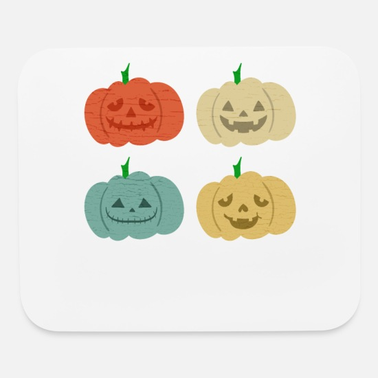 Gift Idea Mouse Pads - Pumpkin Face - Mouse Pad white