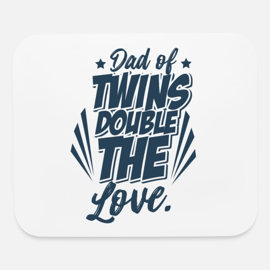 Twins Mouse Pads - Twins - Mouse Pad white