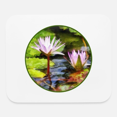 Pond Two Purple Water Lotus - Mouse Pad