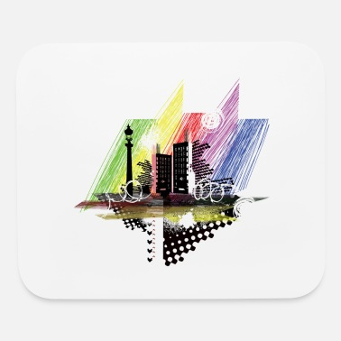 Light Poll city - Mouse Pad