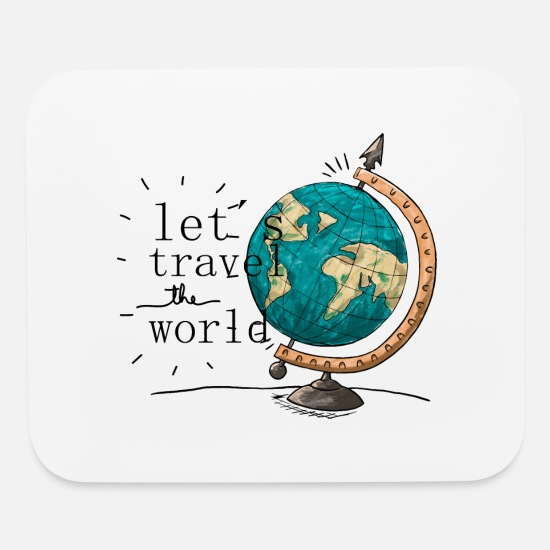 Country Mouse Pads - Travel - Mouse Pad white