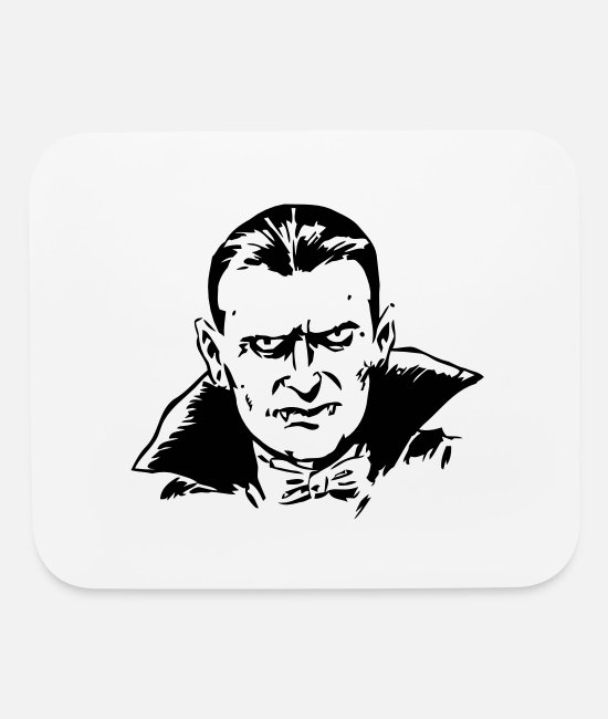 Draw Mouse Pads - dracula - Mouse Pad white