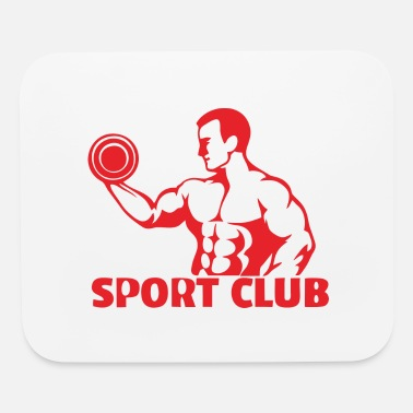 Weights weight lifters - Mouse Pad