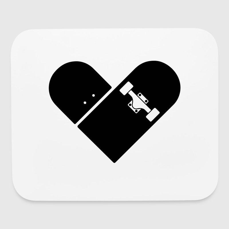 Minimal Skateboard - Heart Logo Design / Icon - Mouse pad Horizontal