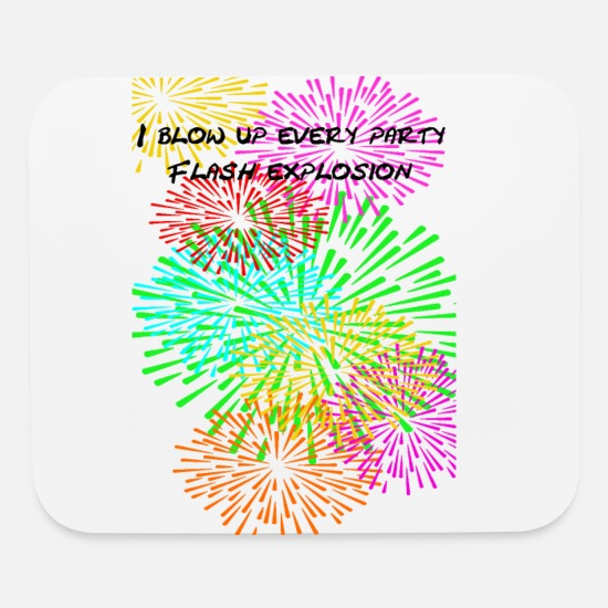 Explosion Mouse Pads - flash explosion - Mouse Pad white