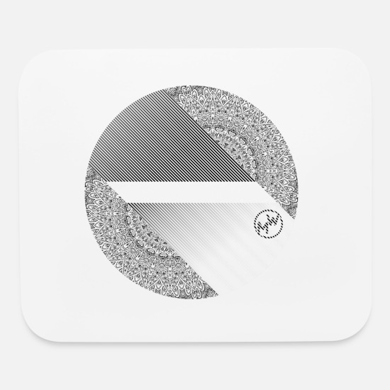 Symbol  Mouse Pads - abstract circle with mandala - Mouse Pad white