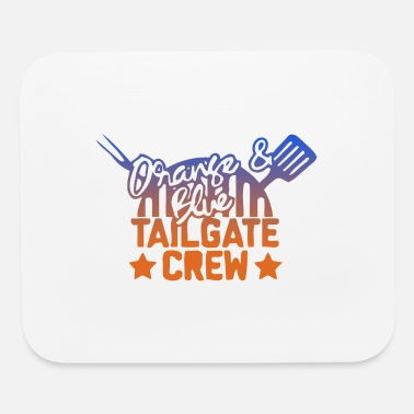 Tailgate orange blue tailgate crew - Mouse Pad