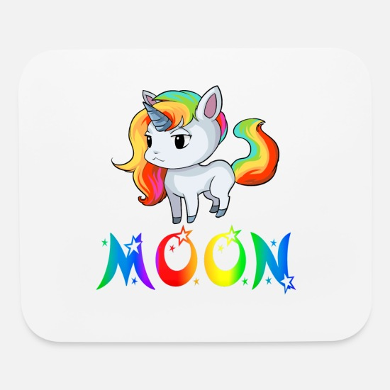 Moon Landing Mouse Pads - Moon Unicorn - Mouse Pad white